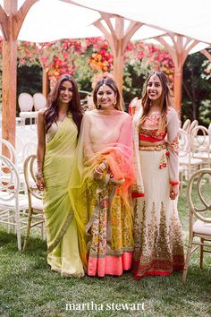 In some cases, you may be asked to wear attire that aligns with a certain culture's customs. For example, a couple having a traditional Indian wedding might ask women to don saris. In these instances, do your research, ask for help when needed, and always dress respectfully. #weddingideas #wedding #marthstewartwedding #weddingplanning #weddingchecklist Indian Wedding Guest Dress, Indian Wedding Outfits, Wedding Attire, Wedding Dresses, Indian Outfits, Saree Wedding, Indian Dresses, Party Dresses, Bar Outfits