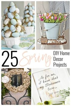 Spring DIY Home Decor Projects | Spring Decorations | Decorations | Spring Design | Spring Home | www.SincerelyJean.com
