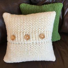 Knit pattern pdf knit pillow cover pattern by LadyshipDesigns pillow covers Knit pattern pdf, knit pillow cover pattern, Super Simple Seed Stitch Pillow Cover in 6 sizes - PDF KNITTING PATTERN Knitted Cushions, Knitted Blankets, Knitting Patterns, Crochet Patterns, Crochet Cushion Cover, Seed Stitch, How To Start Knitting, Crochet Pillow, Crochet Projects