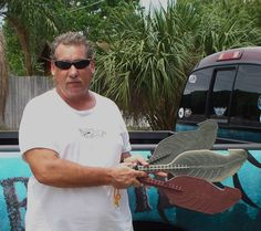 Ed showing off some of his new Assault Hand Paddles by Backwater Paddle Company!