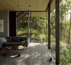 Corner windows at Coastal Retreat in the Pacific Northwest by MW/Works Architecture & Design