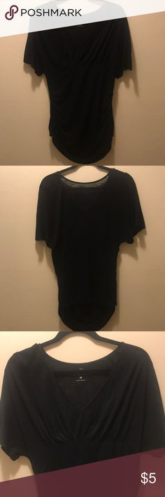 87b5dc8825ab92 Women's blouse New York & Company black top with a long front and a short  back
