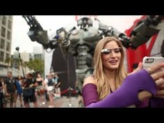 ▶ iJustine Spots Giant Mech Robot at Comic Con 2013 - Wired
