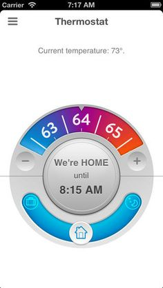 Opower Thermostat iPhone app