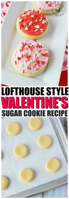Lofthouse cookies recipe for delicious soft valentines day cookies topped with homemade frosting. How to make perfect lofthouse style sugar cookies with free printable recipe download