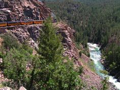 Durango & Silverton Narrow Gauge Railroad & Museum, La Plata County, Colorado — by George McDowell. The San Juans provide great scenary in a great area of Colorado. I like taking the railroad up one way and the...