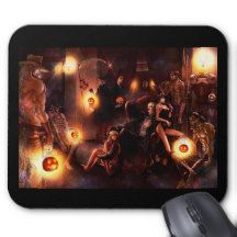 Halloween Monsters Mouse pad