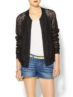 kinda loving this lace bomber jacket right now