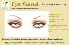 This may help those bags and dark circles under the #eyes #essentialoils Follow me on Facebook at https://www.facebook.com/LivingAChemicalFreeLifestyle