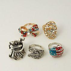 PandaHall Jewelry—Alloy Rhinestone Rings Item... | PandaHall Beads Jewelry Blog