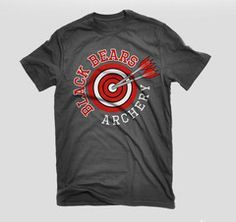 Custom archery team t-shirts. Get your custom designed archery tshirts over at Archery Squad. NASP type tees, bags, cases and more. Team T Shirts, Family Shirts, Mom Shirts, Vinyl Designs, Shirt Designs, Archery Shirts, Archery Club, Spirit Shirts, Team Wear