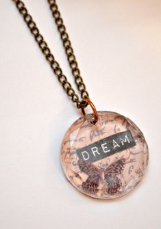 """DIY """"Dream Necklace"""" with Plaid's Facet Cut Podgeable Shapes - One Artsy Mama"""