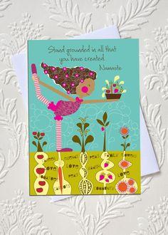 "Paper Goods-Yoga Friendship Card, Yoga card, greeting card 5 x 7"". $5.00, via Etsy."