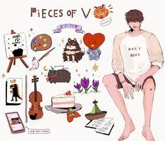 Bts Photo, Foto Bts, Albums Bts, V Chibi, Bts Pictures, Photos, V Bts Wallpaper, Bts Drawings, Fanarts Anime