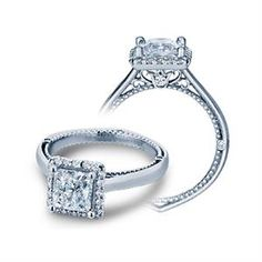 Shop online VERRAGIO WRE-12634 Halo 18K - White Gold Diamond Engagement Ring at Arthur's Jewelers. Free Shipping
