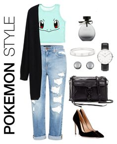 """""""POKEMON STYLE #2"""" by outfit-stagram ❤ liked on Polyvore featuring Genetic Denim, Gianvito Rossi, Rebecca Minkoff, Kenneth Jay Lane, Daniel Wellington, Cartier and American Eagle Outfitters"""