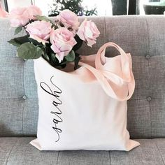 Personalized Tote Bags for Bridesmaid Gift Bag Bridesmaid Tote Bag Bachelorette Party Gift Bags Bridesmaid Gifts From Bride, Bridesmaid Gift Bags, Bridesmaid Ideas, Bridesmaid Makeup, Bridesmaid Robes, Bridesmaid Bouquet, Wedding Bridesmaids, Bachelorette Party Gifts, Bachelorette Ideas