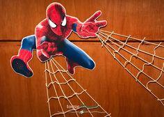 O Homem Aranha foi o escolhido para continuar as comemorações dos seis anos de meu afilhado... E que melhor que fazer uma painel para coloca... Spiderman Theme, Holidays And Events, Birthday Parties, Scrapbook, Superhero Ideas, Man Party, Steve Jobs, Shower, Toque