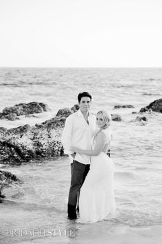A gorgeous black white photo of the happily married could one there wedding day.  Photography: Sara Richardson | Hair & Makeup: Sharon Tabb with The Makeup Room Agency www.sthairandmakeup.com