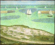 Port-en-Bessin Entrance to the Harbor - Georges Seurat