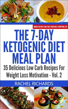 The 7-Day Ketogenic Diet Meal Plan ~~  35 Delicious Low Carb Recipes For Weight Loss Motivation – Volume 2