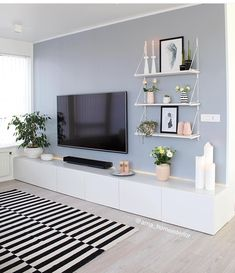 50 Affordable Apartment Living Room Design Ideas On A Budget Home Living Room, Apartment Living, Living Room Designs, Living Area, Living Room Paint, Home Interior Design, Bedroom Decor, Ikea Bedroom, Bedroom Furniture