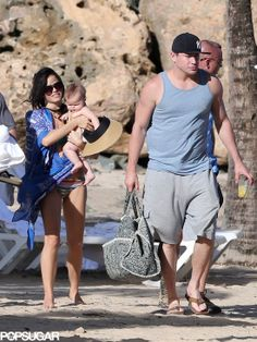Channing Tatum with Jenna and Everly, so cute!
