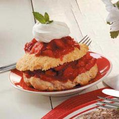 Easy Strawberry Shortcake from Taste of Home