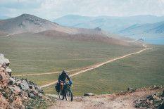 Biking through Mongolia