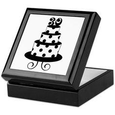 Stylish 30th Birthday Keepsake Box on CafePress.com