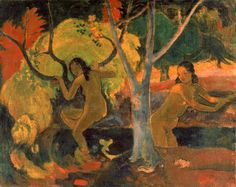 Paul Gauguin (1848-1903), Bathers at Tahiti, 1897, Oil on sacking, 73.3 x 91.8 cm, © The Trustees of the Barber Institute of Fine Arts, University of Birmingham.