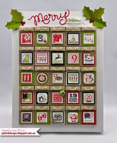 Splotch Design - Jacquii McLeay Independent Stampin' Up! Demonstrator: Christmas Advent Calendar Tutorial