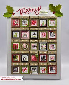 Splotch Design - Jacquii McLeay Independent Stampin' Up! Demonstrator: Christmas Advent Calendar Tutorial