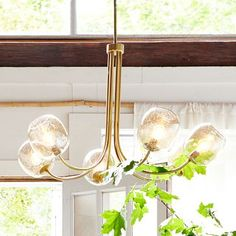 Eclipse Brass Chandelier