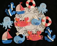 Nautical Baby Decoration, Sailor Cake Decorations, Baby Sailor Shower Decoration, Sail Boat Figurine, Ahoy Its a Boy, Nautical Baby, Sailboat Birthday Cake, Sailor Boy Baby Shower