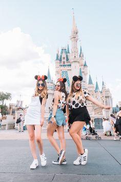 Disney with friends- minnie shirts- minnie ears