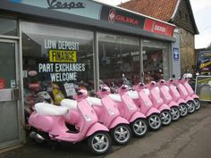 Pink Vespas NEED IN MY LIFE