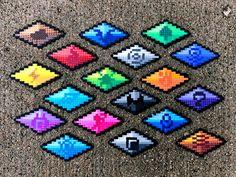 Hama Beads Pokemon, Diy Perler Beads, Perler Bead Art, Perler Bead Templates, Perler Patterns, Pixel Art, Peler Beads, Free Gems, Fuse Beads