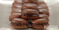 Macarons con chocolate #recetas #nestlecocina