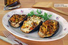 Berenjenas rellenas al curry con semillas de amapola. Receta vegetariana