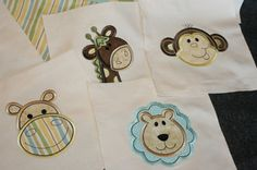 Applique Jungle animals Quilt kit by Customquiltsbykathy on Etsy
