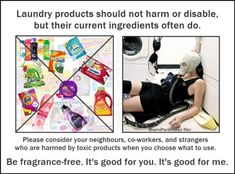 """Laundry Products Harm Humans!   Seriously """"Sensitive"""" to Pollution"""