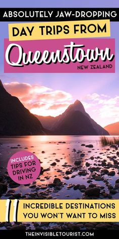 These must-do day trips from Queenstown are stunning destinations ranging from to 3 hours away PLUS tips for driving in New Zealand! Brisbane, Melbourne, Sydney, Travel Advice, Travel Guides, Travel Tips, Travel Destinations, New Zealand Itinerary, New Zealand Travel Guide