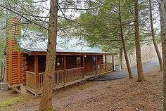 Pigeon Forge chalet rentals: Beary Naughty, Little Cove Woods Cabin 146, is a charming, secluded, 1 bedroom log cabin, situated 5 miles from downtown Pigeon Forge.  Features include one bedroom with k...