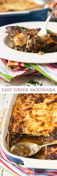 Easy moussaka