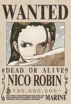 Poster One Piece Wanted Robin One Piece Manga, One Piece Figure, Zoro One Piece, One Piece 1, Missing Piece, Single Piece, Nico Robin, Otaku Anime, Anime Manga