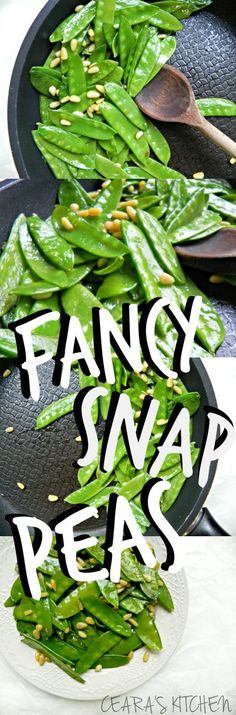 These fancy sauteed snap peas make a delicious, simple and easy side or appetizer in under 10 minutes! #VEGAN #GLUTENFREE #HEALTHY - Ceara's Kitchen