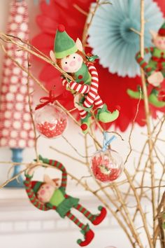 Adorable decorations at an Elf on the Shelf party!  See more party ideas at CatchMyParty.com!  #partyideas #christmas