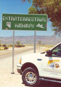 Extraterrestrial Highway near Rachel, Nevada which is near Area 51