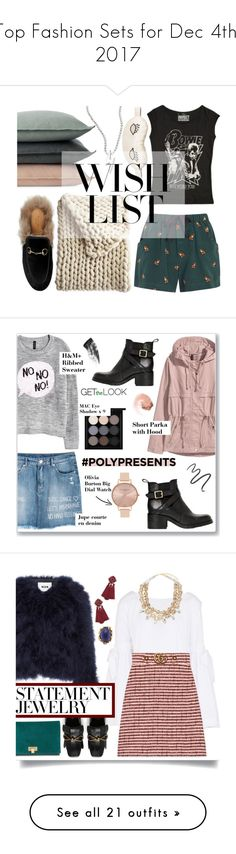 """""""Top Fashion Sets for Dec 4th, 2017"""" by polyvore ❤ liked on Polyvore featuring Design Within Reach, Alex Woo, Gucci, Morgan Lane, Sea, New York, Serena & Lily, contestentry, polyPresents, H&M and NARS Cosmetics"""